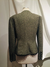 Load image into Gallery viewer, Vintage Valentino Boutique Taupe and Black ool blazer
