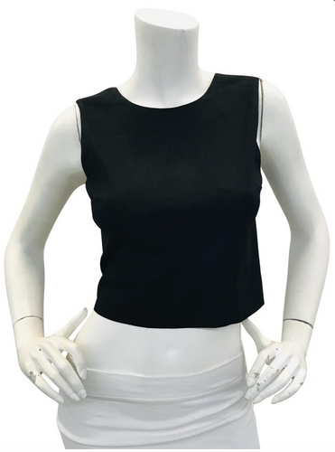 A.L.C.  Black sleeveless crop top Sz 4