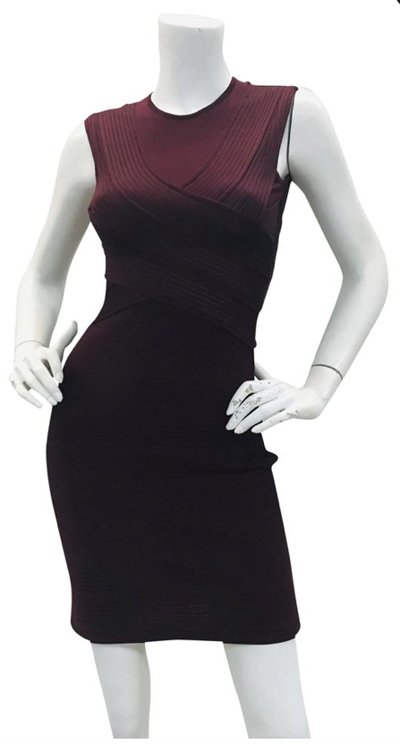 Christian Dior  Burgundy sleeveless  dress  Sz 36,
