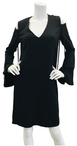 Derek Lam Black  cold-shoulder shift dress Sz 6