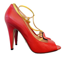 Load image into Gallery viewer, Gucci Red Leather Gucci 2017 Molina Lips Pumps 41