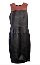 Load image into Gallery viewer, A.L.C Black & Brown leather dress.
