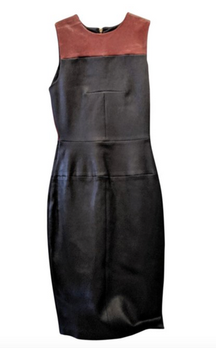 A.L.C Black & Brown leather dress.