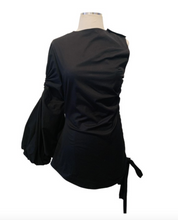 Load image into Gallery viewer, Monse One Sleeve Ruched Top