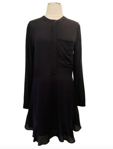 A.L.C Black Long Sleeve Dress