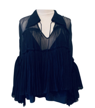 Load image into Gallery viewer, Chloé Blue Silk Blouse
