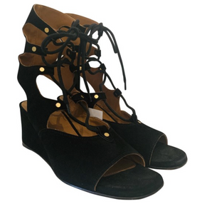 Chloé Black Suede Gladiator Sandals
