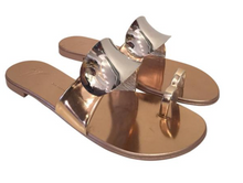 Load image into Gallery viewer, Giuseppe Zanotti Crystal Embellished Flat Toe-Ring Sandal Sz. 39