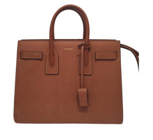 Load image into Gallery viewer, Saint Laurent Classic Sac De Jour Nano Brown Leather