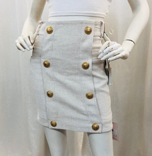 Load image into Gallery viewer, Balmain Ivory Mini Skirt Size 36