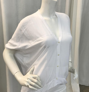 Helmut Lang White Axio Blouse