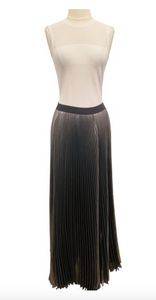 Rebecca Taylor Metallic Pleated Maxi Skirt