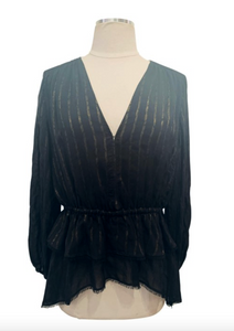 10 Crosby Derek Lam Black Sheer Top