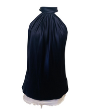 Load image into Gallery viewer, Ramy Brook Blue sleeveless Silk Top