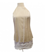 Load image into Gallery viewer, LPA Creme Sleeveless Silk Top