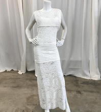 Load image into Gallery viewer, Iro White Mesh Maxi Dress