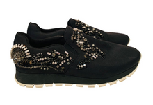 Load image into Gallery viewer, Prada Black nylon Round-Toe Sneakers