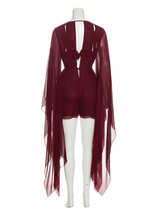 Load image into Gallery viewer, Emilio Pucci Burgundy Silk Romper