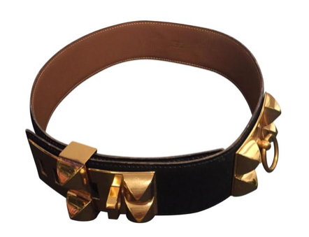 Hermes Box Collier De Chien Belt XS