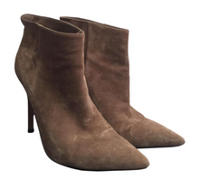 Load image into Gallery viewer, Gianvito Rossi Taupe Suede Ankle Boots Sz 37.5