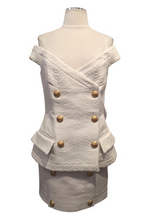 Load image into Gallery viewer, Balmain White Sleeveless Top