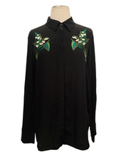 Load image into Gallery viewer, Stella McCartney Black Silk Shirt