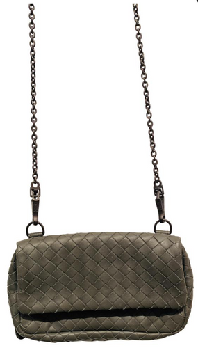 Bottega Veneta Grey Intrecciato Leather Mini Bag