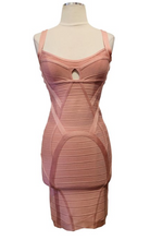 Load image into Gallery viewer, Herve Leger Rose Lane Bandage Mini Dress