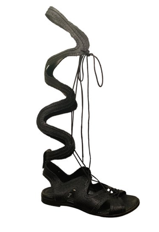 Nicholas Kirkwood  Black Leather Erdem Gladiator Sandals