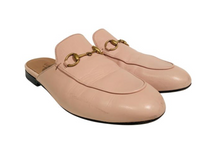 Load image into Gallery viewer, Gucci Nude Princetown Round-Toe Slippers Sz. 36.5