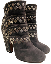 Load image into Gallery viewer, Alaia Grey Studded Boots sz 38
