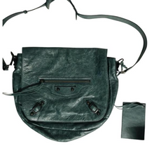 Load image into Gallery viewer, Balenciaga Green leather Motocross Neo Folk Bag