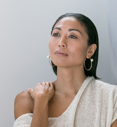 Soledad Lowe Reckon Hoops with Pearls