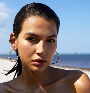 Soledad Lowe Hoops with Pearls