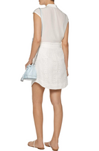 Load image into Gallery viewer, Marissa Webb Alvina Silk-trimmed Cotton Lace Skirt