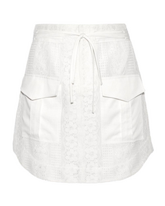 Marissa Webb Alvina Silk-trimmed Cotton Lace Skirt