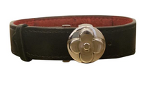 Load image into Gallery viewer, Louis Vuitton Black Leather Wish Bracelet