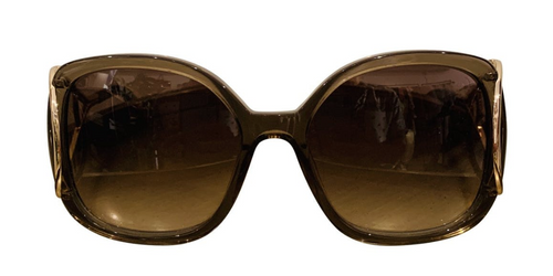 Chloé Grey Acetate Oversize Sunglasses