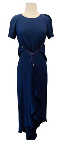 Sies Marjan Blue Short Sleeve Maxi Dress