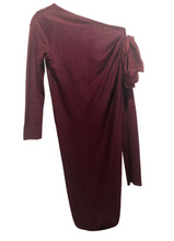 Load image into Gallery viewer, Giambattista Valli Burgundy Lightweight Mini Dress