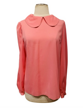 Load image into Gallery viewer, Dolce & Gabbana Pink Silk Long Sleeve Blouse