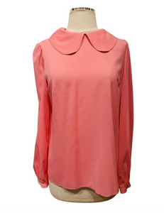 Dolce & Gabbana Pink Silk Long Sleeve Blouse