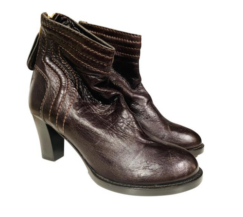 Chloé  Brown Ankle Boots