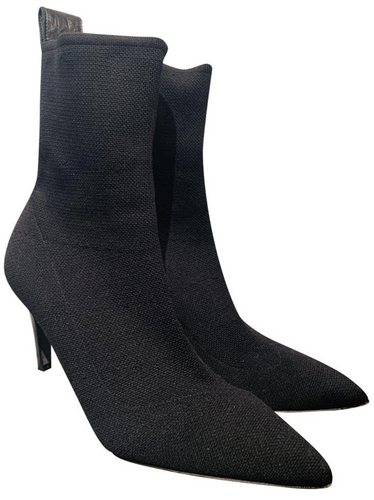 Zadig & Voltaire Black knit Sock Ankle Boots