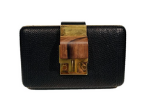 Load image into Gallery viewer, Lanvin Black Crossbody Evening Bag