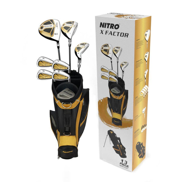 New Nitro X Factor Mens 13 Piece Golf Club Set (RH) - Golf Balls Direct