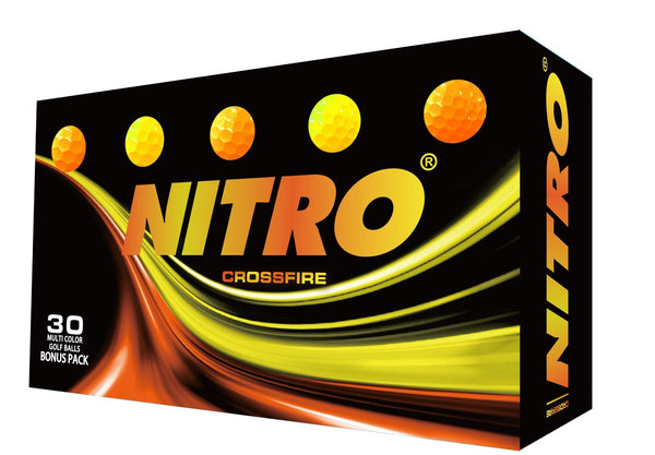 NEW Nitro Crossfire Orange/Yellow [30 count] - Golf Balls Direct