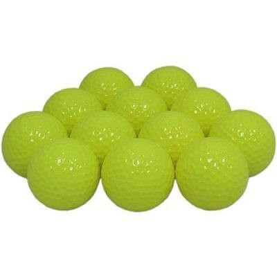 New Blank Yellow Golf Balls
