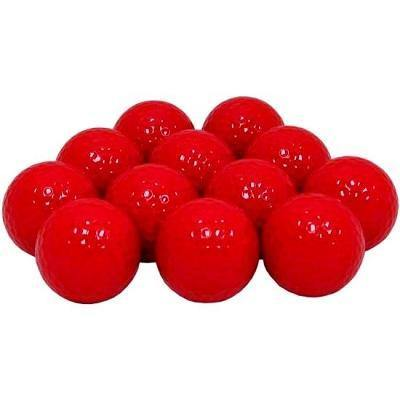 New Blank Red Golf Balls - Golf Balls Direct