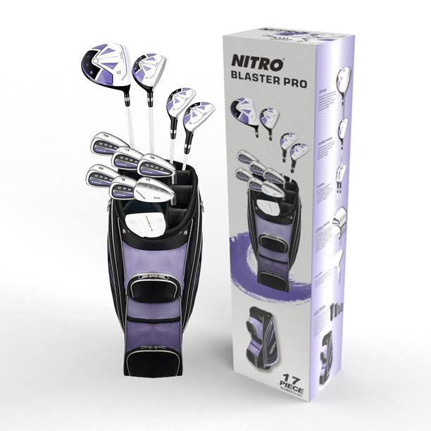 New Nitro Blaster Pro Women's 17 Piece Golf Club Set (LH)